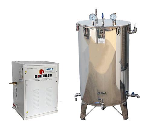 Cuve inox pour la purification du foin avec générateur vapeur